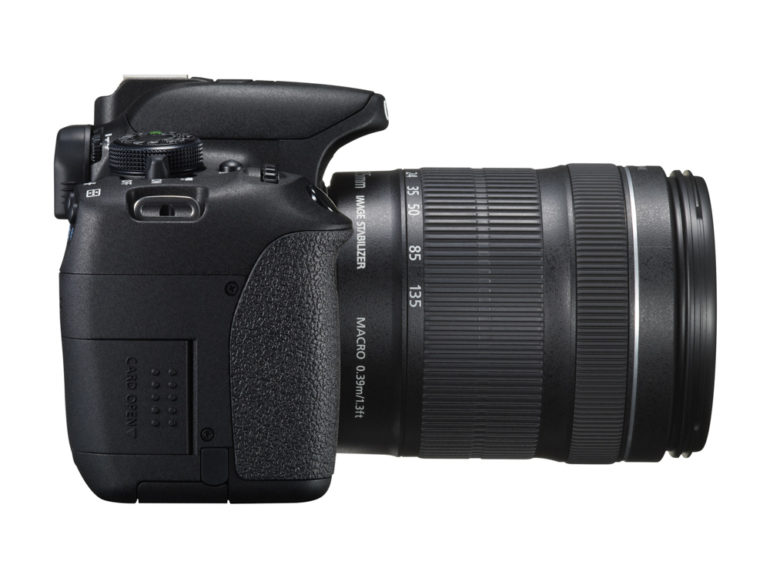 EOS 700D SIDE RIGHT w EF-S 18-135mm IS STM