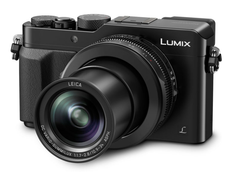 LUMIX LX100 Black Slanted On