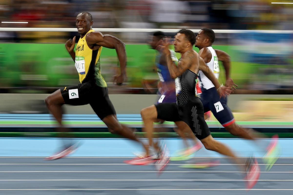 Le sprinter jamaïcain, Usain Bolt, lors de sa demi-finale du 100 m lors des Jeux Olympiques de Rio, Brésil © Cameron Spencer / Getty Images