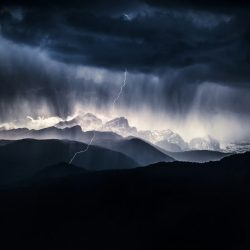 Storm above the Triglav mountain