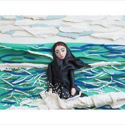 Imaginary CD cover for Sahar. Caspian Sea, Mahmoudabad, Iran, 2011 by Newsha Tavakolian