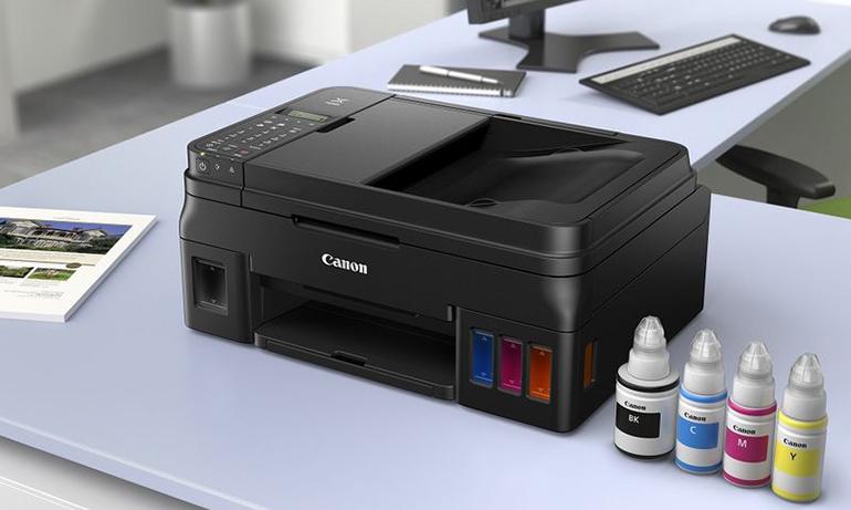 canon pixma g quatre nouvelles imprimantes r servoirs rechargeables lense. Black Bedroom Furniture Sets. Home Design Ideas