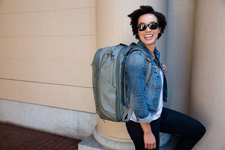 Peak Design 45L Travel Backpack Sage Lfstyle5