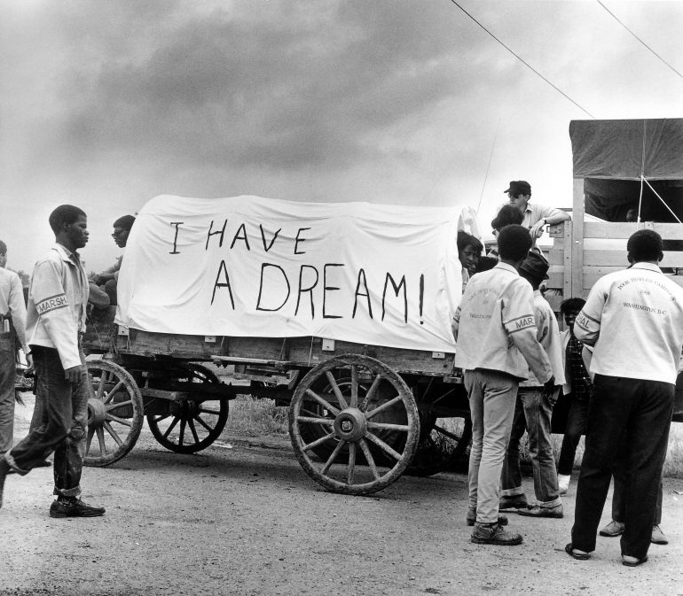 Mule train Leaves for Washington Poor Peoples March Ernest Withers