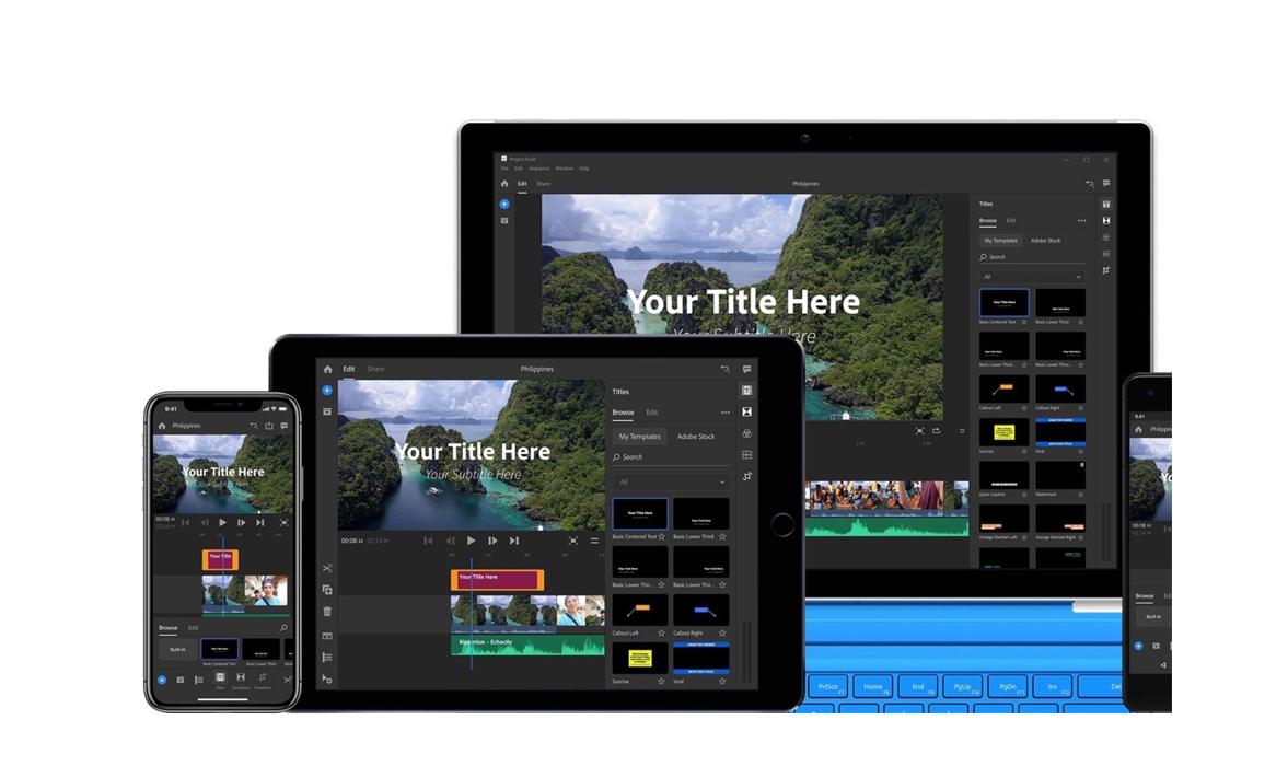 Adobe Premiere Rush, logiciel de montage pour Youtubeurs