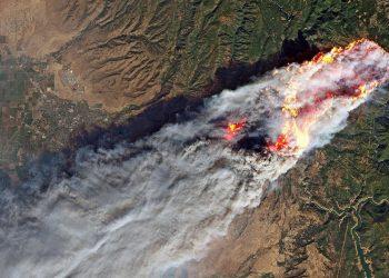 En images les incendies meurtriers de Californie vus depuis l'espace