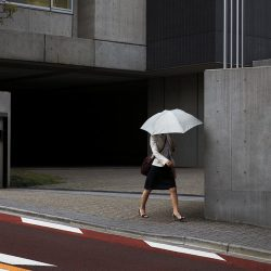 Woman with an umbrella