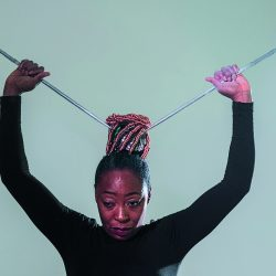 Diaoptasia, 2015 by Otobong Nkanga. Performed as part of BMW Tate Live in the Performance Room at Tate Modern.Date: 26 November 2015
