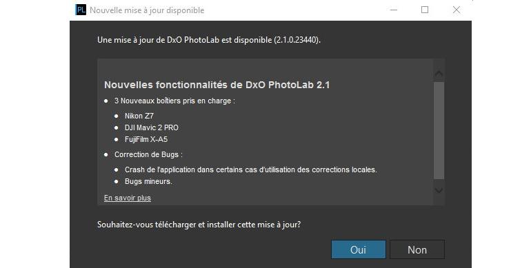 DxO PhotoLab 2 1 : plus rapide, et nouveaux matériels