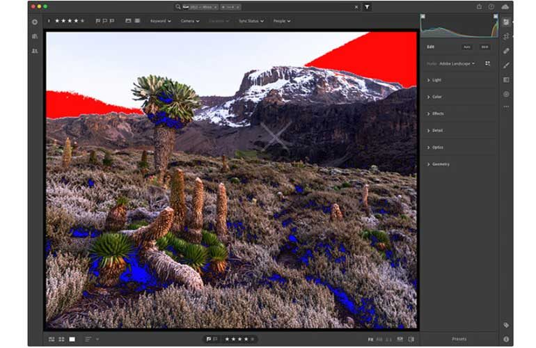 lightroom-CC-outil-indicateurs-ecretage