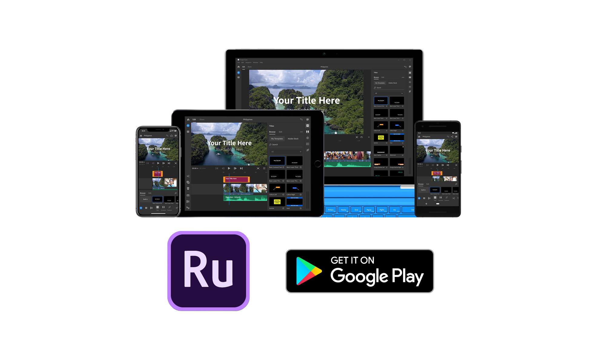 Adobe Premiere Rush désormais disponible sur Android