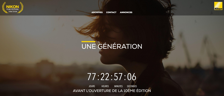 « Une génération » : le thème du 10ème Nikon Film Festival