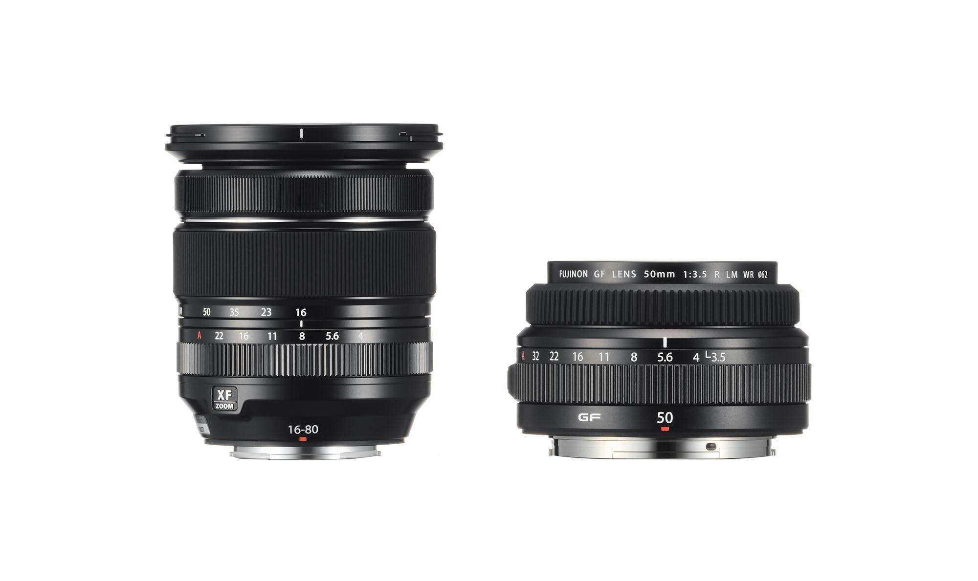Fujifilm dévoile des objectifs 16-80 mm f/4 et 50 mm f/3,5 pour systèmes X et GFX