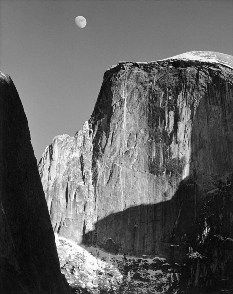 Ansel-Adams-Moon-and-Half-Dome