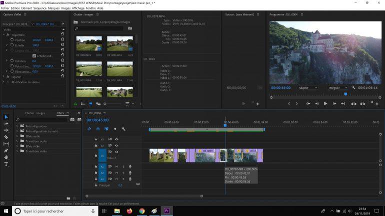 Montage Premiere Pro avec rendu