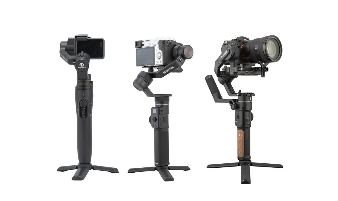 FeiyuTech dévoile 4 nouveaux stabilisateurs pour hybrides, action-cam et smartphones