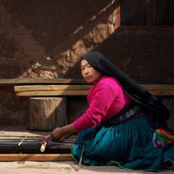 Teodosia Hyatta Quispe 41 ans, Tisserande de Taquiler
