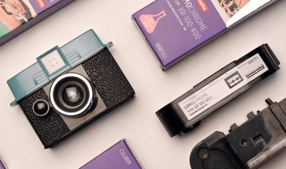 Lomochrome Purple 110-lense