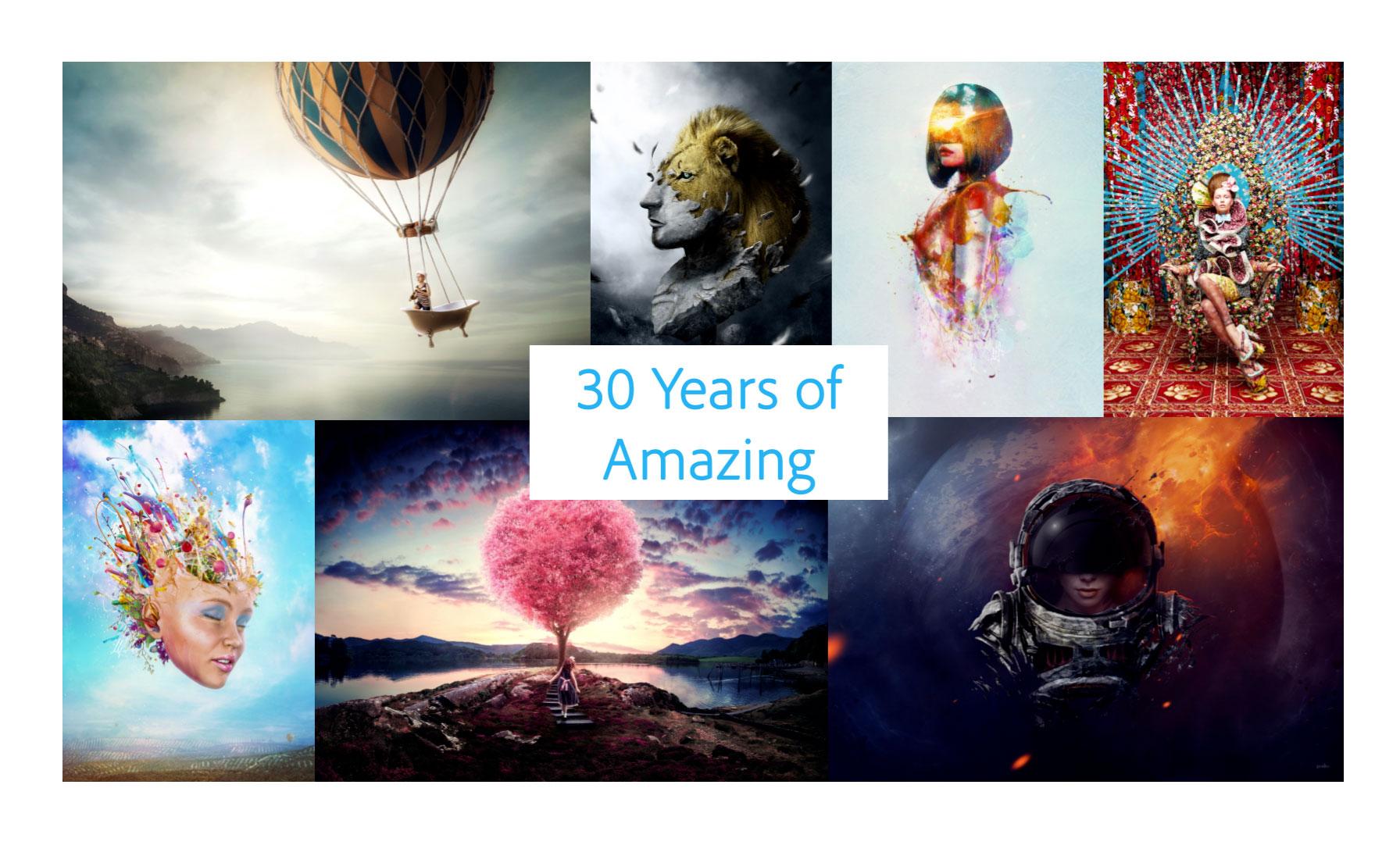 Adobe Photoshop fête ses 30 ans, et présente deux mises à jour   Lense