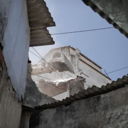 A house is demolished in Quinta da Laje, a slum in Lisbon's suburbs. June, 2019