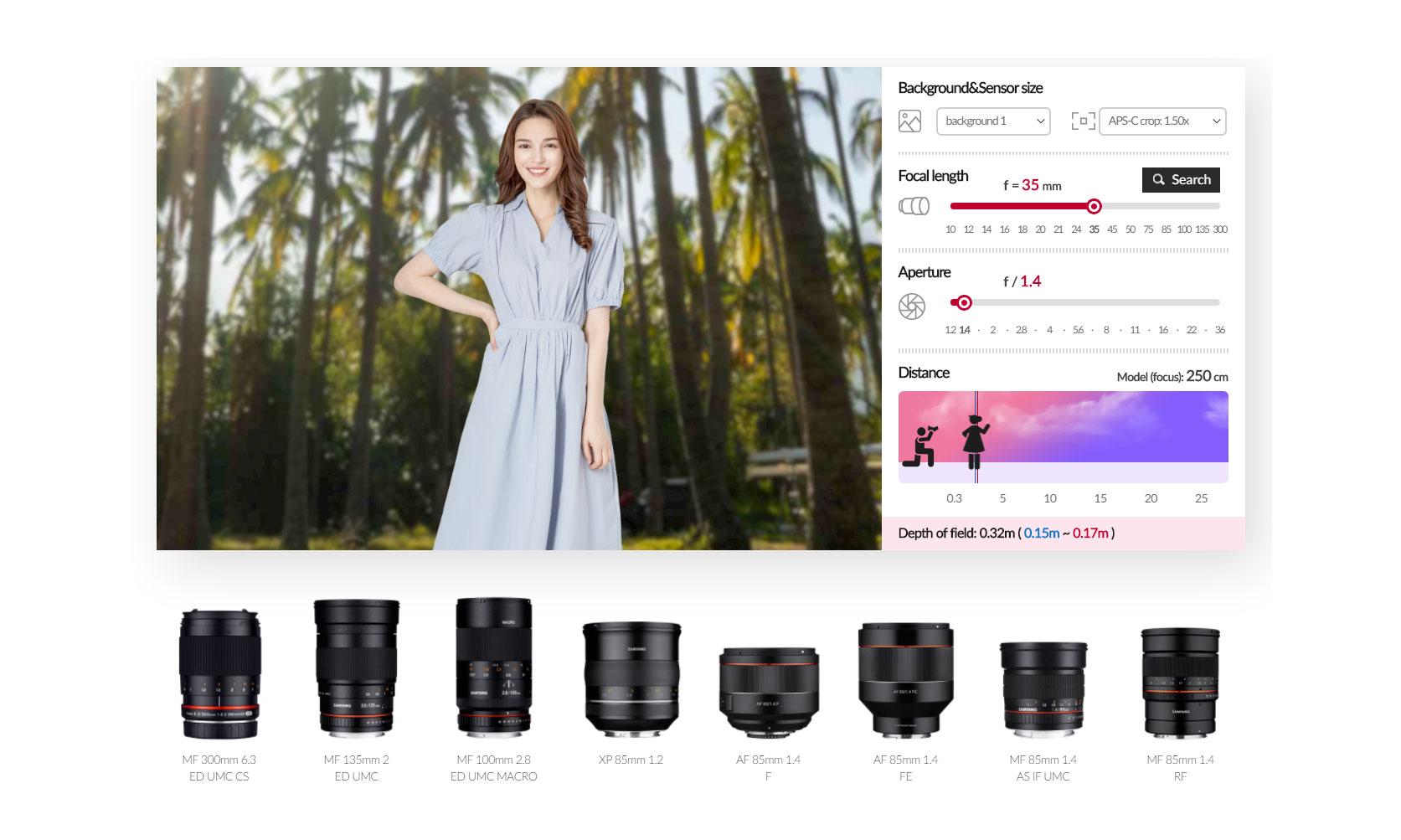 Samyang dévoile son simulateur de focale en ligne | Lense