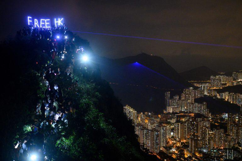 HONG-KONG-CHINA-POLITICS-UNREST-FESTIVAL-LIGHTS-AFP PICTURES OF