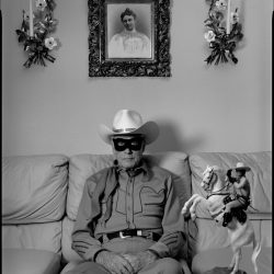 Clayton Moore, the former Lone Ranger, at home. Los Angeles, 1992.