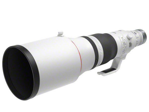 RF600mm F4 L IS USM_Front Slant_with hood