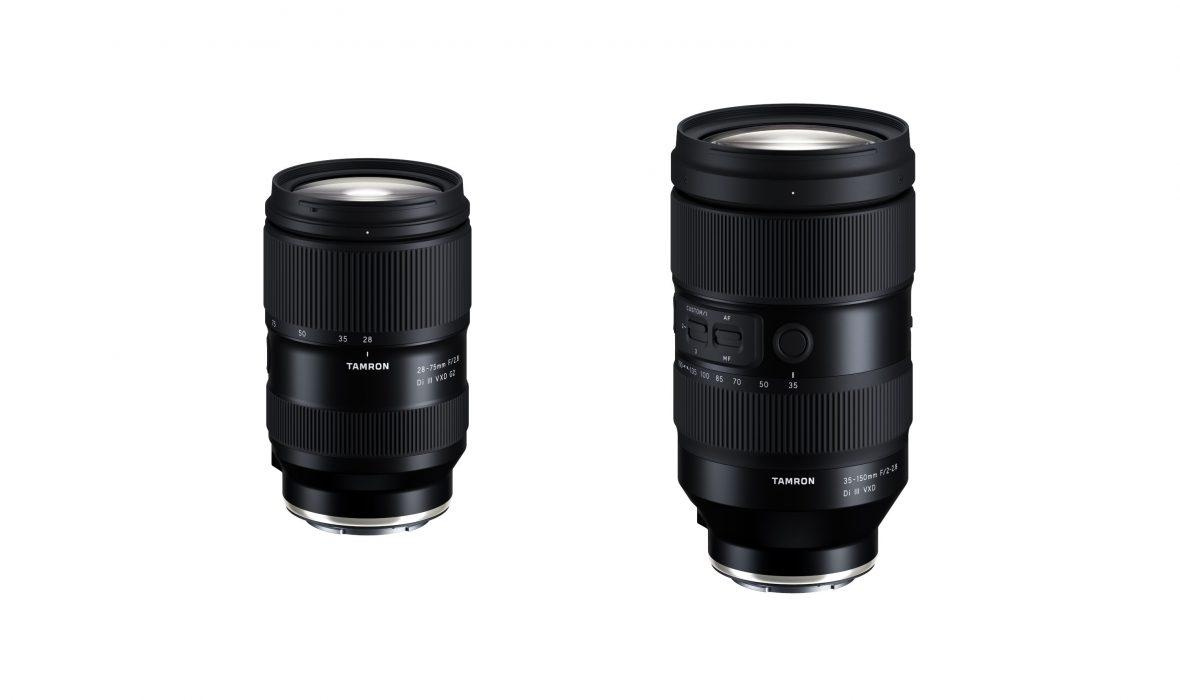 Tamron 28-75 mm f/2,8 Di III VXD G2 et 35-150 mm f/2-2,8 Di III VXD