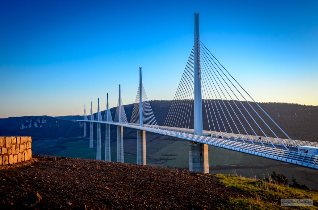Sunset – Millau viaduct – Aveyron – France