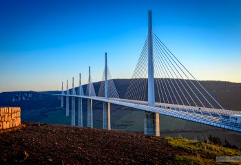 Sunset - Millau viaduct - Aveyron - France