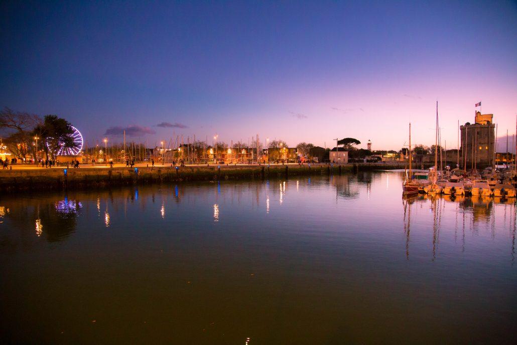 soir d'hiver à La Rochelle
