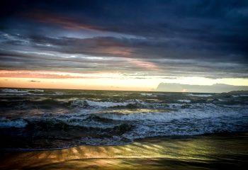 viareggio plage coucher de soleil