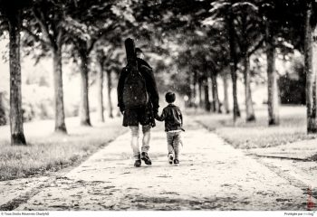LITTLE BOY AND FATHER