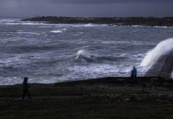 Tempêtes bord de mer Breton