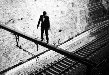 Train to suicide.