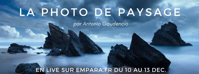 En Live : Workshop sur la photographie de paysage