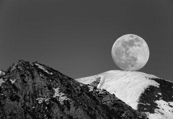 Lever de Lune à Ancelle