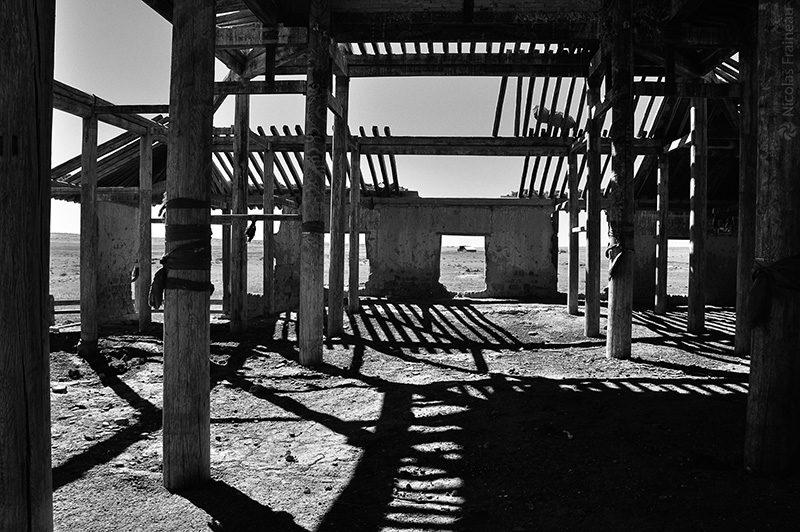 Reste d'un temple bouddhiste détruit par les soviétiques