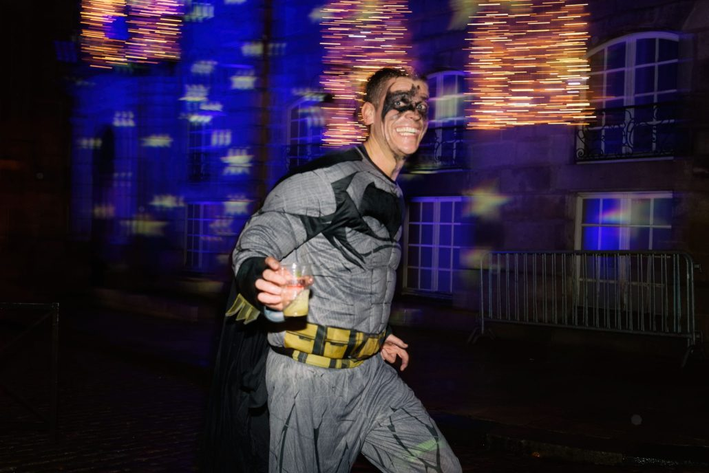 Batman drinking and running