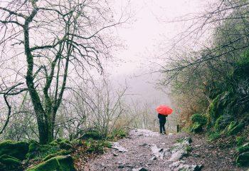 le petit parapluie rouge