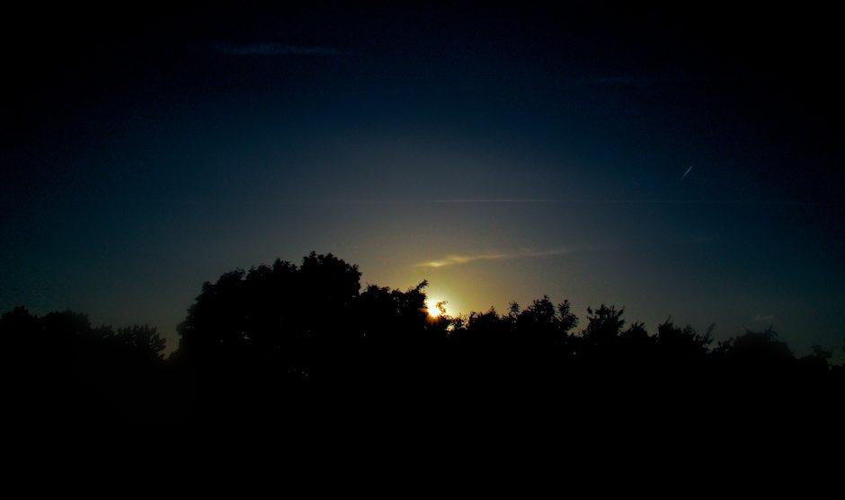 Sun goes down…