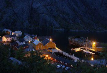 Njusfjord la nuit