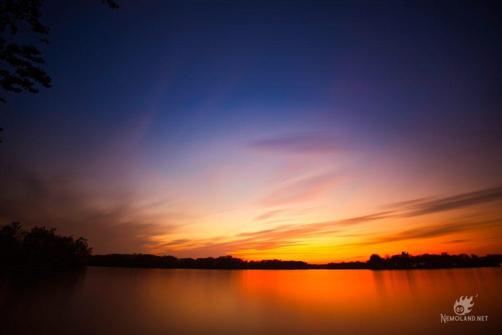 Juste après le coucher du soleil