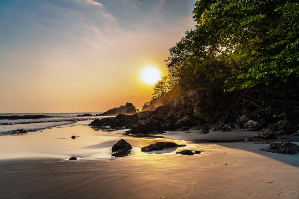 Sunsets on Manuel Antonio beach