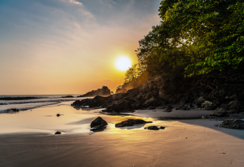 Sunsets on Manuel Antonio beach
