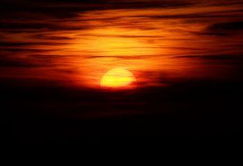 Coucher de soleil alpin