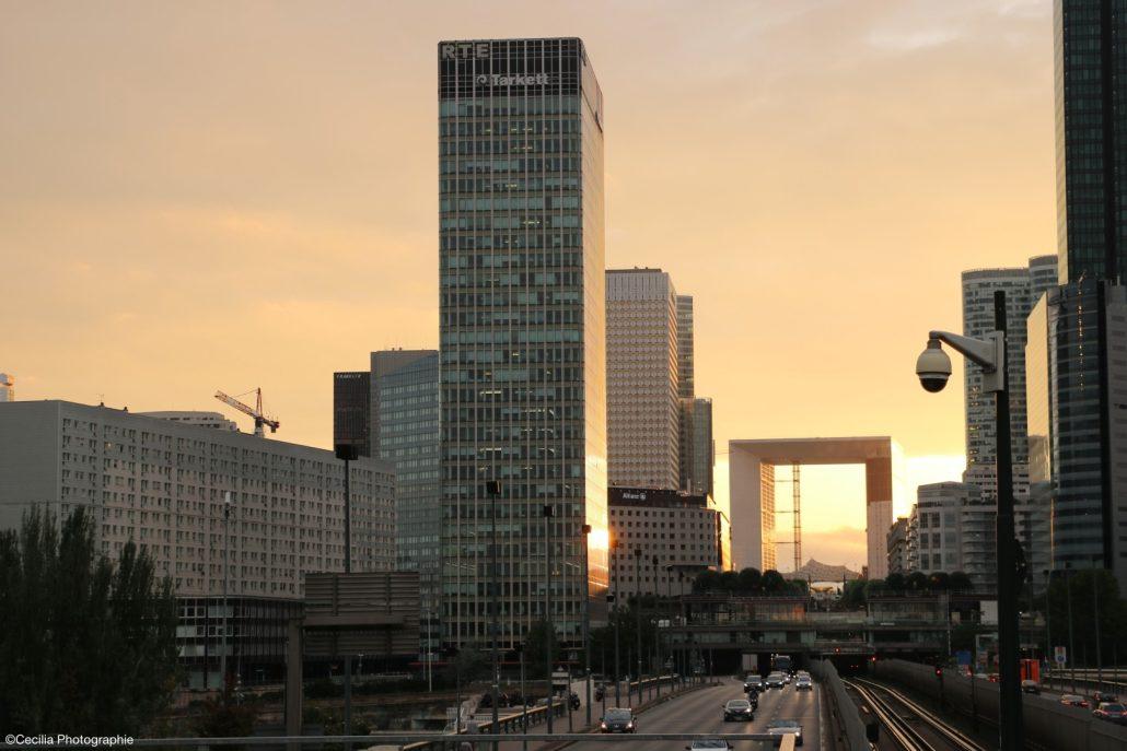La Défense depuis le Pont de Neuilly