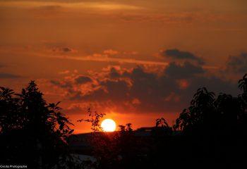 Coucher de soleil en juin