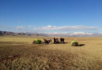 Bivouac en Mongolie